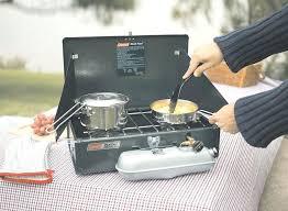 dual fuel stove coleman gas camp regulator canada