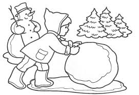 Small Picture Snowball Winter Winter Coloring Page Kids Making Snowball