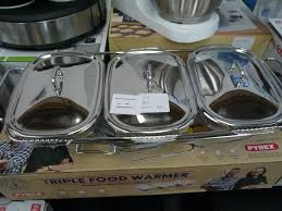 auktionslos 594 bikers triple food warmer with pyrex dishes looks complete and in