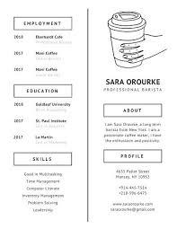 Barista Resume New Barista Resume Sample Ivory Coffee Minimalist Starbucks Template