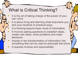 Critical Thinking     Saidel Group