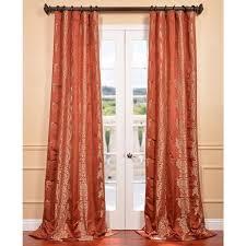 russet faux silk surrey jacquard curtain panel com