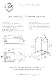 bathtub rough in dimensions standard bathroom