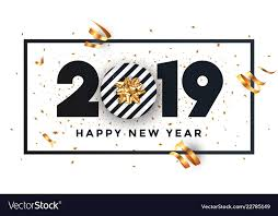 happy new year 2019 banner with frame vector image