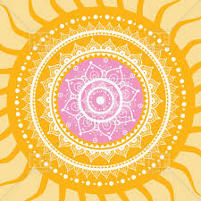 Sun Pattern Enchanting Hand Drawn Mandala Sun Indian Decorative Pattern Vector Image