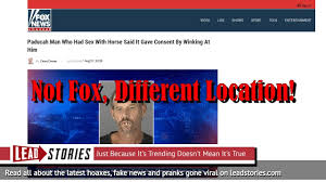 It Horse Have Sex Fake News Not Paducah Man Did With Say WxwnqUBvpS