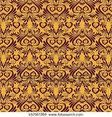 Gold Damask Background Luxury Damask Background Clipart K57561994 Fotosearch