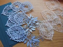Wax Paper Flower Waste Wax Paper Flower Teal Card