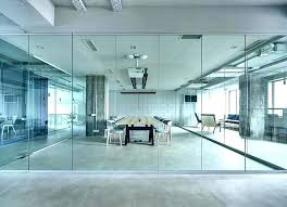 glass wall s interior cost office
