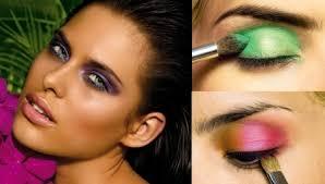 summer makeup ideas neon eye makeup