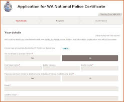 Clearance Certificate Sample National Police Certificates Western Australia Police Force