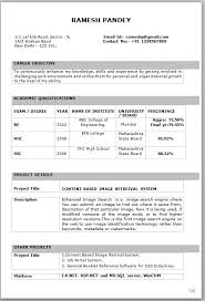 it fresher resume format in word freshers resume formats