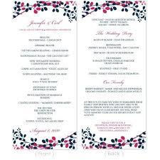 Wedding Reception Program Sample Wording Programs Templates Ceremony