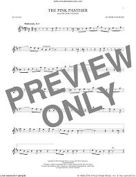 alto sax pink panther sheet music mancini the pink panther sheet music for alto saxophone solo sax