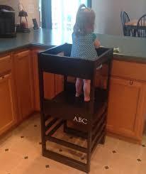diy learning tower kitchen helper based plans white using the toddler step stool rails childrens