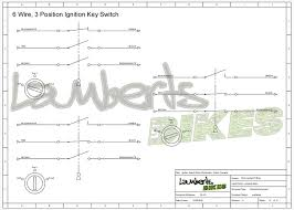 6 wire ignition switch diagram wiring diagrams 6 wire ignition switch wiring diagram ignition switch lamberts bikes