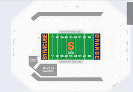 Syracuse Football Dome Seating Chart