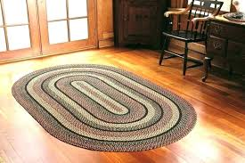 braided rugs 8 foot round natural fiber area red oval for in wool