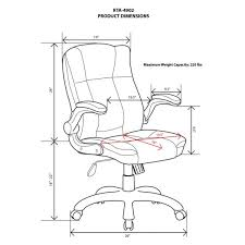 medium back executive office chair with flip up arms