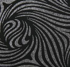 Black And White Invitation Paper Venus Black Silver Glitter Invitation Paper