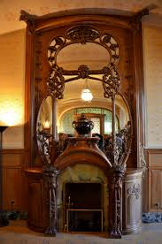 art nouveau fireplace in the villa demoie reims