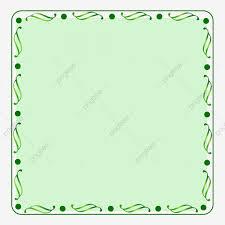 Green Border Fresh Decoration Border Texture Frame