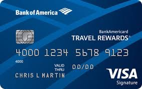 Credit Review 1 Rewards Travel Bankamericard - Points Card 5x
