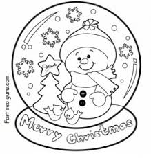 Small Picture christmas snow globe whit snowman coloring pages Printable