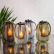 kitchen stuff plus ksp panama large glass lantern with rope handle 5 00 66 off ksp panama large glass lantern with rope handle