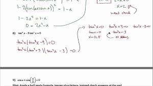 trigonometric identity examples new trig equations worksheet part