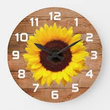 rustic sunflower wall decor clocks