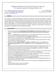 security architect resume victorville security objectives for resume