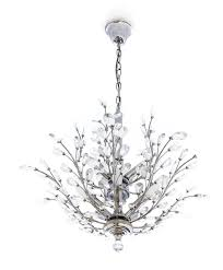white home interior crystal chandelier with hanging crystals
