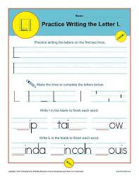 Practice Letter L