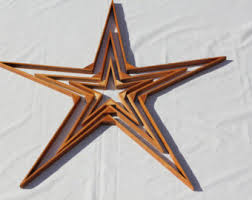reclaimed wood star etsy