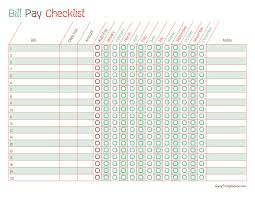 Monthly Payment Sheet Free Printable Bill Pay Calendar Templates