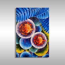 abstract flower painting by miami based artist laelanie larach art for in miami