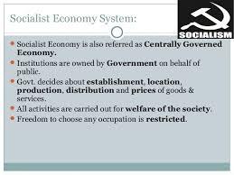 socialist economy presentation on economic system
