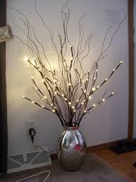 Image result for lighted twig branches glass vase