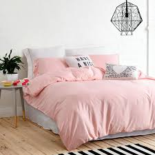 ufo home 300 thread count cotton sateen light pink solid color pretty girly type duvet cover set full queen size queen size pink