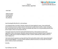 Recommendation Letter For Colleague Examples Of A Character Reference Letter Character