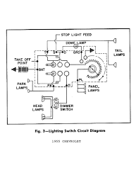 chevy wiring diagrams 2000 Oldsmobile Intrigue Engine Diagram 1955 lighting switch circuit