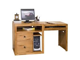 tiny clock over goldenrod wooden computer desk designs for home with opened shelves and cpu storage also two closed cabinets beneath with small knobs