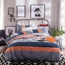 orange and navy bedding