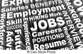 Careers Word Background Jobs 3d Choose Profession The Word Careers