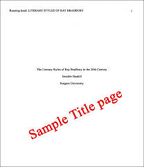Example Of Apa Paper Cover Page Core Page