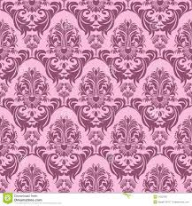 Seamless Pink Retro Wallpaper For Design Stock Vector Illustration