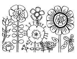 Springtime Flower Coloring Page Cute Spring Pages Colouring Flowers