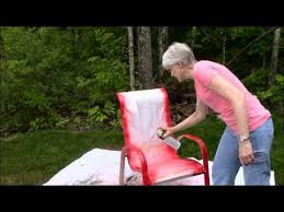 spray painting metal furnitureSpray Paint Outdoor Chairs Sunset Red  YouTube