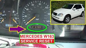 Ml320 Service Light Reset Mercedes W163 Service Reset Oil Life Reset On Ml320 Ml430 Ml350 Ml500 Ml270 Ml230 Ml400